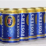 A six-pack of Foster's beer is seen in Melbourne
