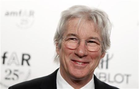 Richard Gere arrives for the amfAR New York Gala