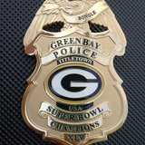 Green Bay police Packer badge (Photo courtesy of Lt. Bill Bongle)