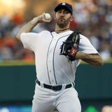 Detroit Tigers pitcher Justin Verlander delivers a pitch to the Minnesota Twins during the third inning of their game at Comerica Park on August 16, 2011. REUTERS
