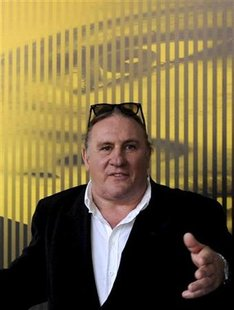 Actor Depardieu poses during a photocall at the 64th Locarno Film Festival