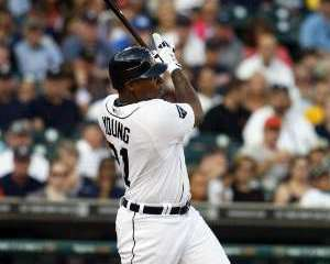 Detroit Tigers OF Delmon Young REUTERS/Rebecca Cook