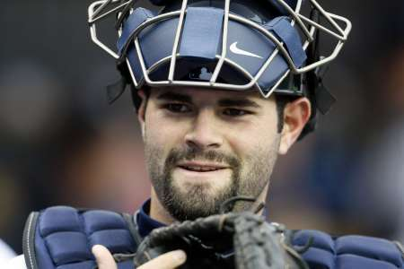 Detroit Tigers catcher Alex Avila stands in the dugout before the start of their MLB American League baseball game against the Toronto Blue Jays in Detroit, Michigan May 16, 2011. REUTERS/Rebecca Cook (UNITED STATES - Tags: SPORT BASEBALL)