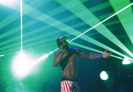 "Lil Wayne performs ""I'm On One"" at the 2011 BET Awards in Los Angeles"