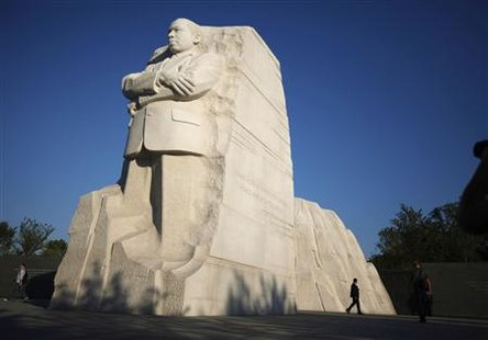 The new Martin Luther King Jr. memorial is shown in Washington