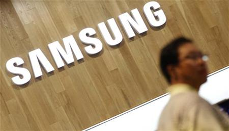 A man shops at a Samsung Electronics shop in Seoul