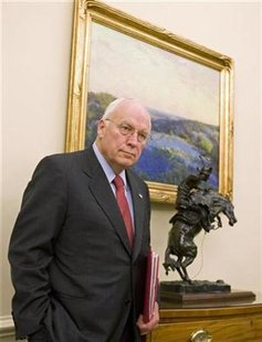 Vice President Dick Cheney in the Oval Office of the White House in Washington