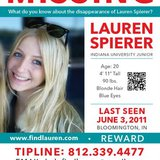 Flyer for Missing Student Lauren Spierer