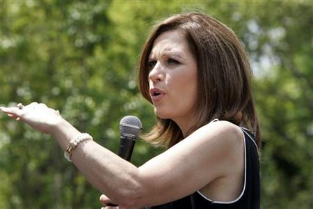 U.S. Republican presidential candidate Michele Bachmann speaks during a rally in Columbia, South Carolina