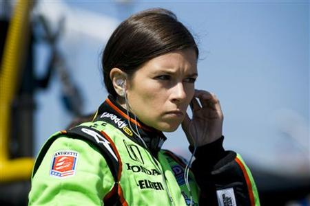Andretti Autosport driver Danica Patrick of the U.S. prepares for a practice session at the Honda Indy Toronto