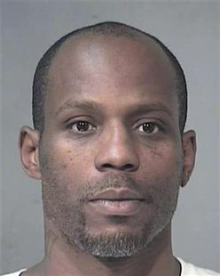 Booking mug shot of rapper DMX in Arizona