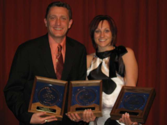 Lee Peek and Nikki Montgomery at Wisconsin Broadcasters Awards 2008