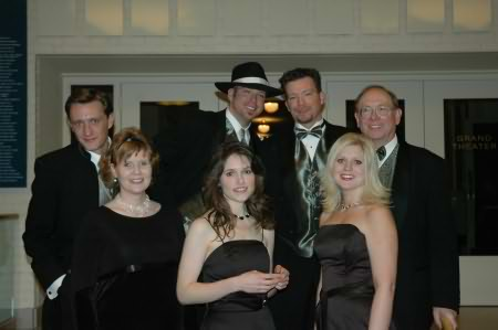 Lee Peek with the WDEZ Staff at the CMA Party in 2004