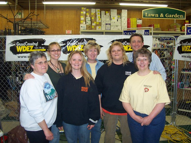 Lee Peek and Nikki Montgomery with the Marathon County Humane Society Board at Caged for Critters part 2 2007