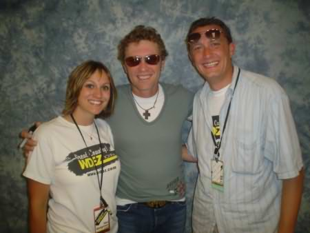 Lee Peek and Nikki Montgomery with Craig Morgan at the Wisconsin Valley Fair 2006