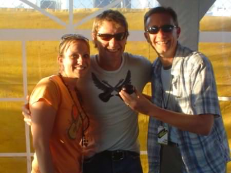 Lee Peek and Nikki Montgomery with Craig Morgan at Fuddfest 2007