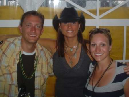 Lee Peek and Nikki Montgomery with Terri Clark at Fuddfest 2007