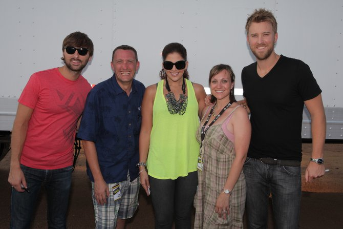 Lee Peek and Nikki Montgomery with Lady Antebellum at the WI Valley Fair 2010