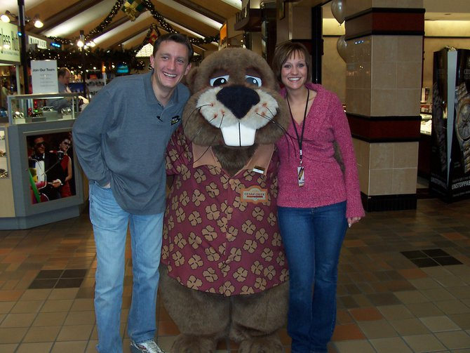 Lee Peek and Nikki Montgomery with a Giant Beaver 2008