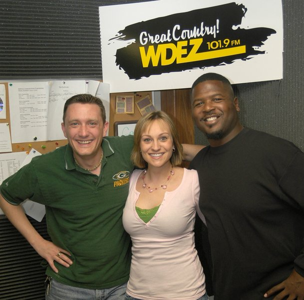 Lee Peek and Nikki Montgomery with LeRoy Butler 2006