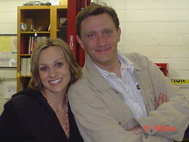 Lee Peek and Nikki Montgomery at Cash and Keys Car giveaway 2006