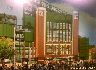 This is a rendering of the planned new south end zone gate at Lambeau Field, released by the Green Bay Packers organization, Aug. 25, 2011. (courtesy of FOX 11)