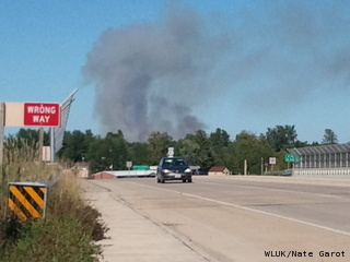 Fire near Peshtigo (courtesy of FOX 11)