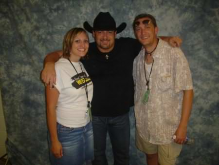 Lee Peek and Nikki Montgomery with Chris Cagle 2006