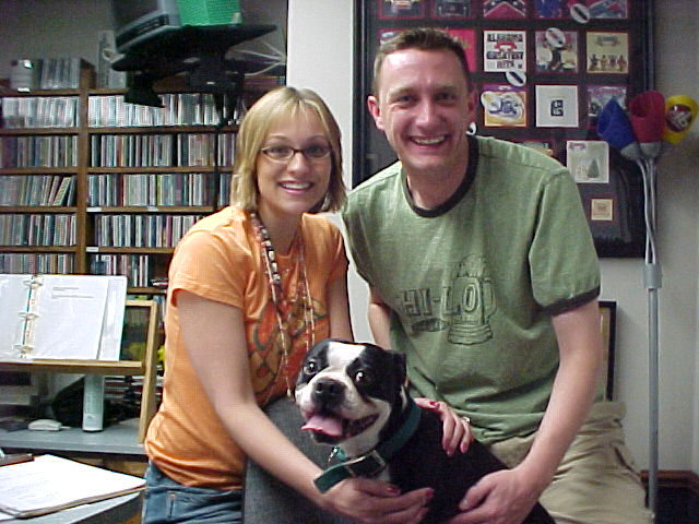 Lee Peek and Nikki Montgomery Companion of the Week the day Nikki met and fell in love with Kolby with a K in studio 2006