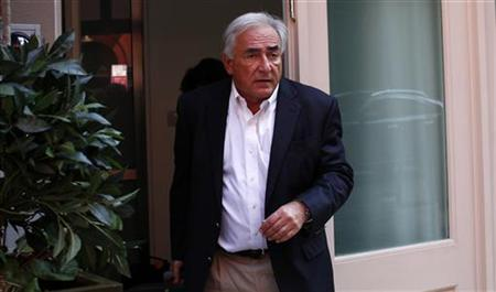 Dominique Strauss-Kahn, former managing director of the IMF, leaves his provisional home in New York