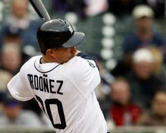 Detroit Tigers OF Magglio Ordonez. REUTERS/Rebecca Cook