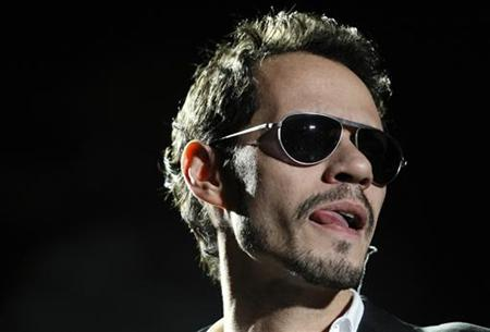 Singer Marc Anthony performs during a concert as part of his Iconos World Tour in Caracas