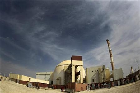 General view of Bushehr nuclear power plant, 1,200 km south of Tehran