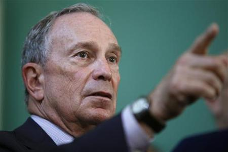 New York City Mayor Bloomberg speaks about hurricane evacuation during a news conference in New York