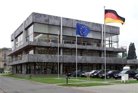 EXTERIOR VIEW OF THE GERMAN FEDERAL CONSTITUTIONAL COURT IN KARLSRUHE.