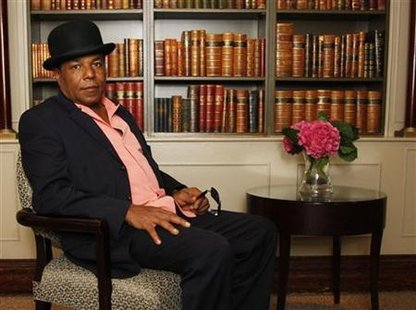 Tito Jackson, brother of singer Michael Jackson, poses at the Churchill Hyatt Regency Hotel in London