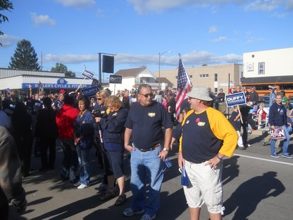Union workers turn their backs on Representative Sean Duffy as he marches in the Wausau Labor Day Parade, September 5th, 2011
