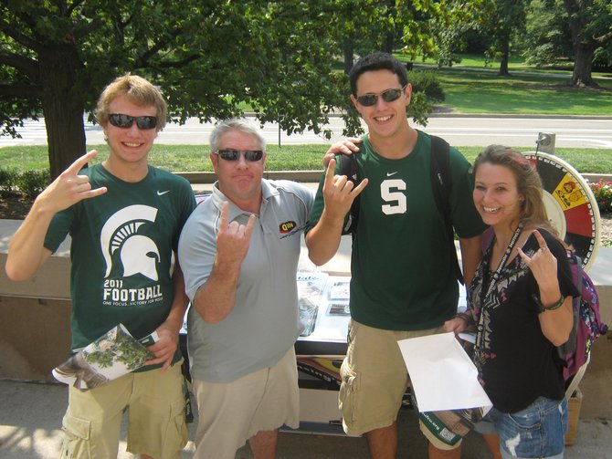 Q106 and MSUFCU welcomed back students for 2012 at the MSU Union, Go Green and Rock On!