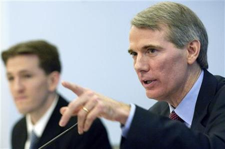 Rob Portman testifies before the House Budget Committee on Capitol Hill in Washington
