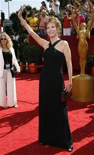 Actress Mary Tyler Moore arrives at the 60th annual Primetime Emmy Awards in Los Angeles