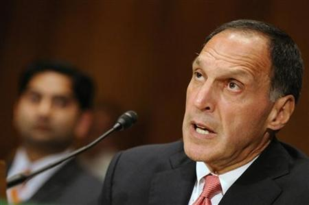 Richard Fuld testifies before the Financial Crisis Inquiry Commission for a hearing about extraordinary government intervention and the rece