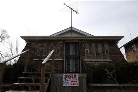 A home for sale is pictured in Gary, Indiana