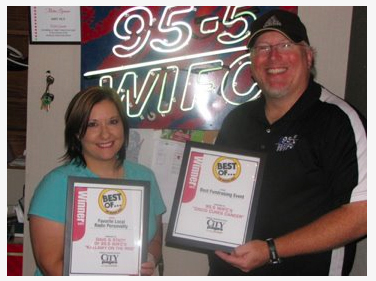 It's WIFC's Dave Kallaway & Stacy Cole, voted winners of the City Pages Favorite Local Radio Personaliy 2011!