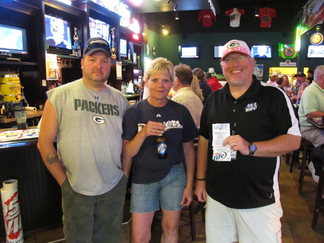 It's Dave Kallaway with Ken Meverden, winner of a pair of tickets to see the Green Bay Packers vs St. Louis on Oct 16th, from Miller Lite and 95-5 WIFC.