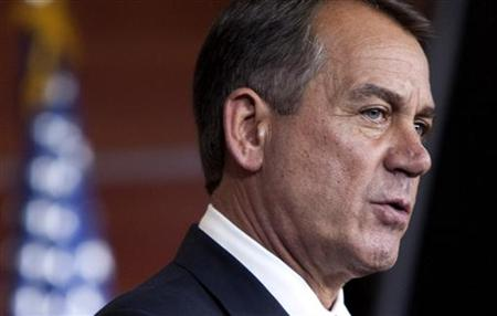 Speaker of the House John Boehner speaks to the media on Capitol Hill