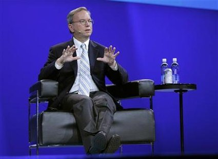 Google executive chairman Schmidt speaks in San Francisco