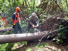 National Guard helps in storm cleanup