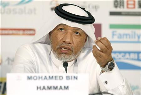 AFC President Mohammed Bin Hammam speaks during a news conference before the 2011 Asian Cup final soccer match between Japan and Australia a