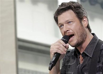 "Singer Blake Shelton performs on NBC's ""Today"" show in New York"