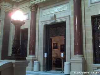 The entrance to the Wisconsin Supreme Court inside the state Capitol is seen, Sept. 15, 2011. (courtesy of FOX 11).